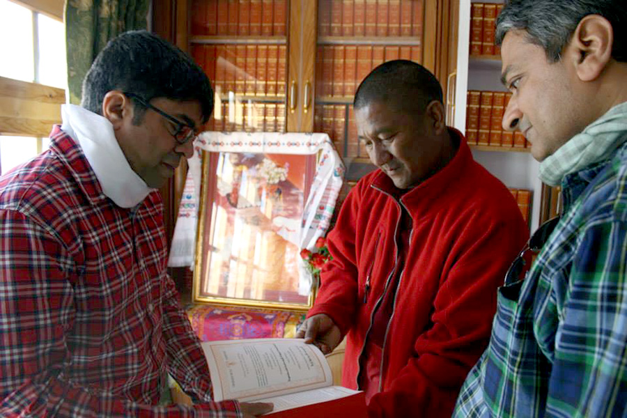 MR. RAJESH & <br>MR. SRINIVASAN WITH <br>GESHE SAMTEN